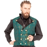 Double Breasted Brocade Waistcoat
