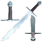 Functional Medieval Falchion Sword