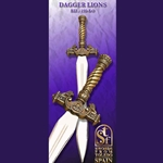 Toledo Roman Lion Dagger, Gold Finish