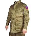 US WWII Paratrooper Reproduction Olive Drab Jacket USPARAJACK