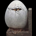 Egg with Eye Bookend Left Side Windstone Editions WE-1003-L