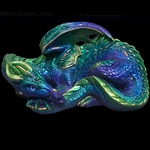 Mother Dragon Sculpture Emerald Peacock 501-EP