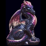 Male Dragon Sculpture Black Gold 503-BG