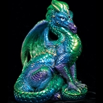 Male Dragon Sculpture Emerald-Peacock