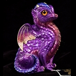 Fledgling Dragon Sculpture Amethyst 510-A