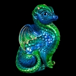 Fledgling Dragon Sculpture Emerald Peacock 510-EP