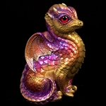 Fledgling Dragon Sculpture Violet Flame 510-VF