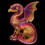 Spectral Dragon Sculpture in Violet Flame