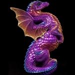 Rising Spectral Dragon Sculpture in Amethyst