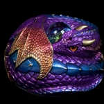 Curled Dragon Sculpture - Amethyst