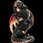 Emperor Dragon Sculpture Black Gold