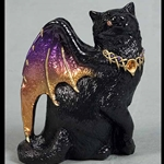 Bat-Winged Flap Cat in Black Sunset