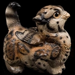 Crouching Griffin Chick Ocelot Statue