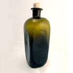 18th Century Square Bottle - Hand Blown Glass
