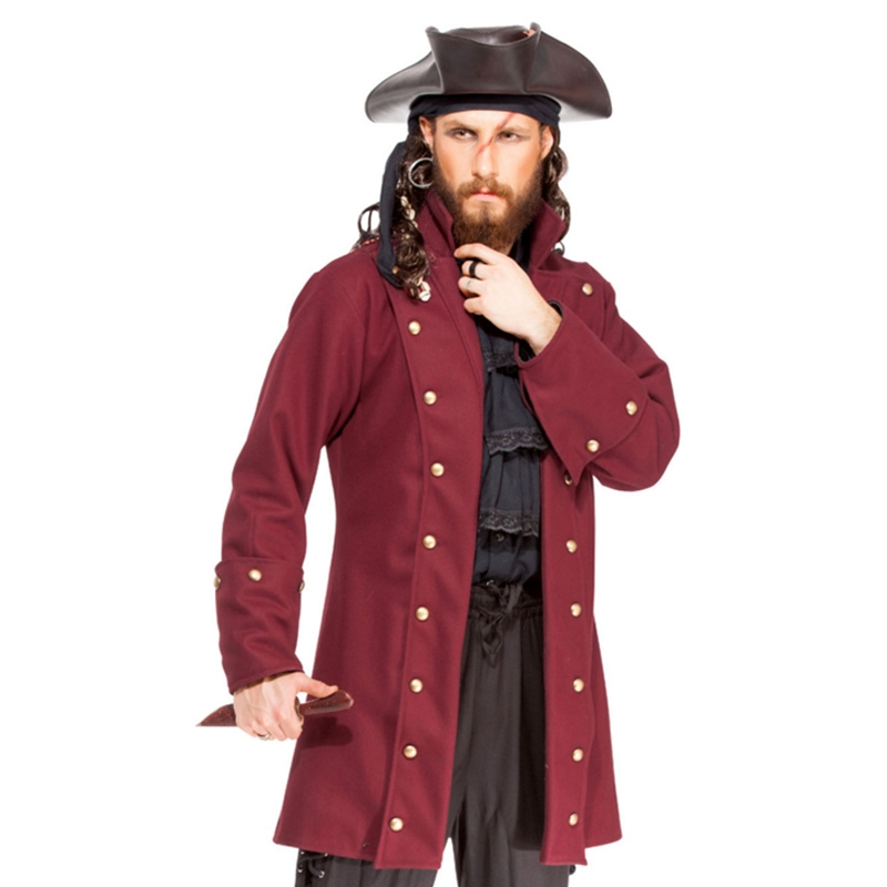 Mens Pirate Coats and Vests Buccaneer Coats and
