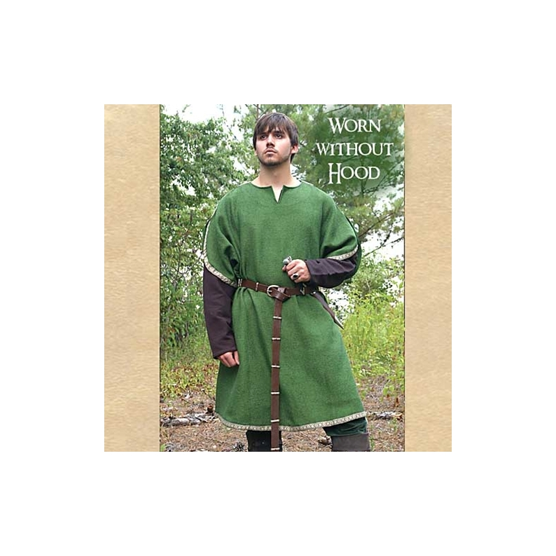 868615e3ae7 By The Sword - Archers Green Over Tunic with Hood
