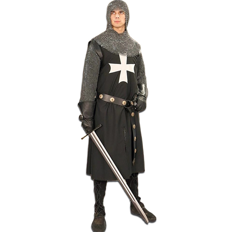 Hospitaler Tunic - Black with White Cross  sc 1 st  By The Sword & Tunics Medieval Renaissance Roman Viking Saxon Crusader and more