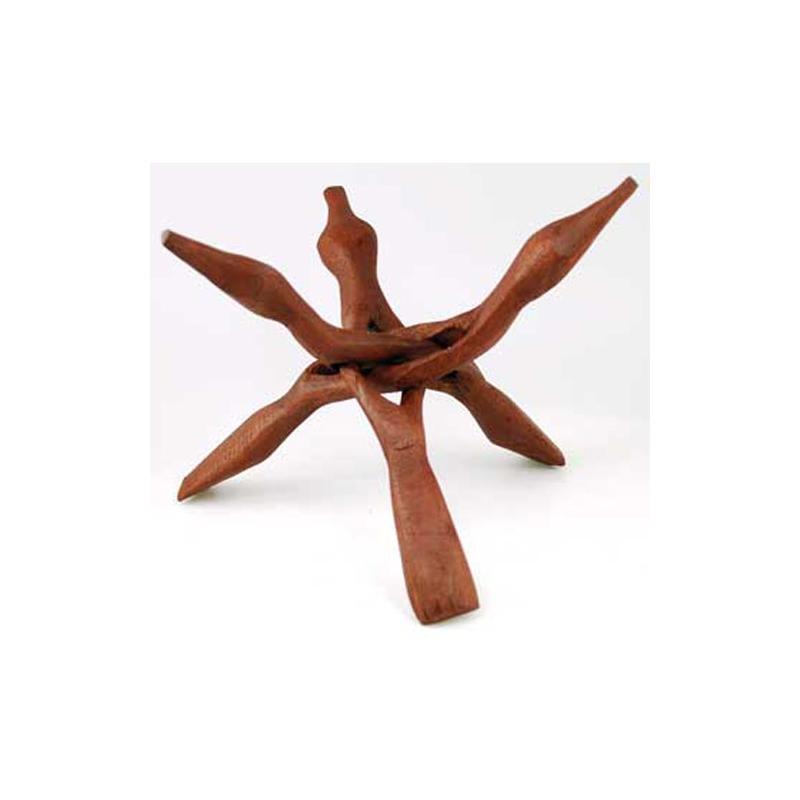 "9/"" 12/"" Natural Wooden Carved Wood Details about  /Set of 4 Cobra Stands 4/"""