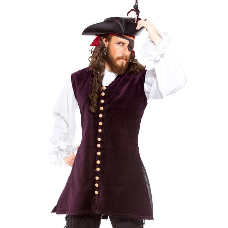 Renaissance Medieval and Pirate Coats Vests for Men on Sale