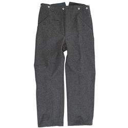 WW2 Luftwaffe M43 Wool Trousers Repro German Pilot Blue Pants Uniform All Size