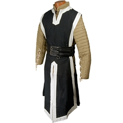 94f1b04344 By The Sword - Medieval Tabard Black with White Trim