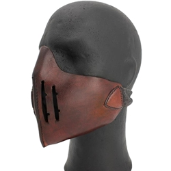 Leather Mempo Mask Brown