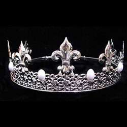 King Crown Silver With Pearls