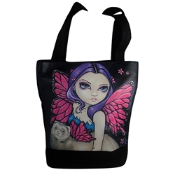 Fairy with Winged Ferret Tote