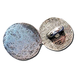 Hammered Pewter Button