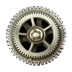 Spinning Steampunk Gear Button