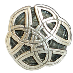 Round Celtic Knot Button