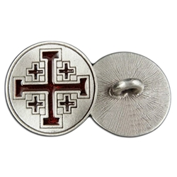 Crusaders Cross Button