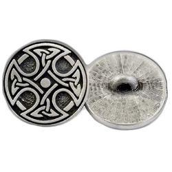 Round Celtic Crosss Button