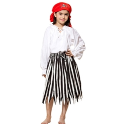 Girl's Striped Pirate Skirt