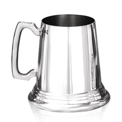 Heavy Gauge Traditional Pewter Tankard One Pint