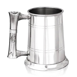 Scroll Handle One Pint Pewter Tankard