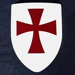 By The Sword Knights Templar Steel Heater Shield 288 002