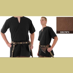 Medieval Tunic, Brown, XXL