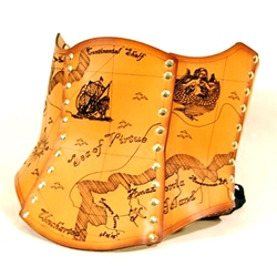 The Treasure Map Hard Leather Corset 39-5000
