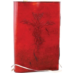 Entwined Dragons Leather Journal Blank Book 45-BBBCDRAE