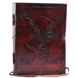 Large Fairy Moon Leather Blank Book