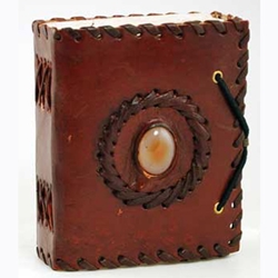 Small God's Eye Leather Journal Blank Book 45-BBBCGES