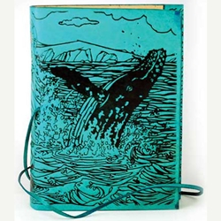 Whale Leather Journal Blank Book 45-BBBCWHA