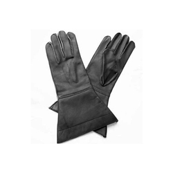 Leather Riding Gauntlets Black