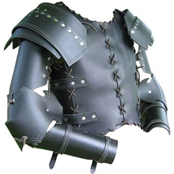 Laced Medieval Leather Armor Cuirass and Arms Set 65-3-12
