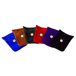 Colorful Suede Belt Pouch