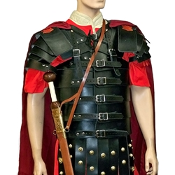 Leather Lorica Segmentata with Shoulders