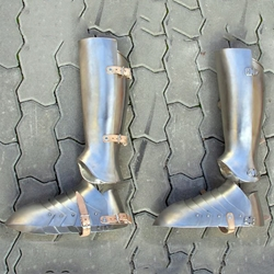 Full Greaves and Sabatons Stainless Steel