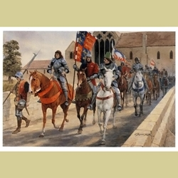 The March from Leicester Medieval Art Print MFL-15