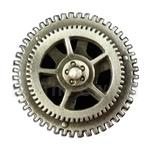 Spinning Steampunk Gear Button 21-2080